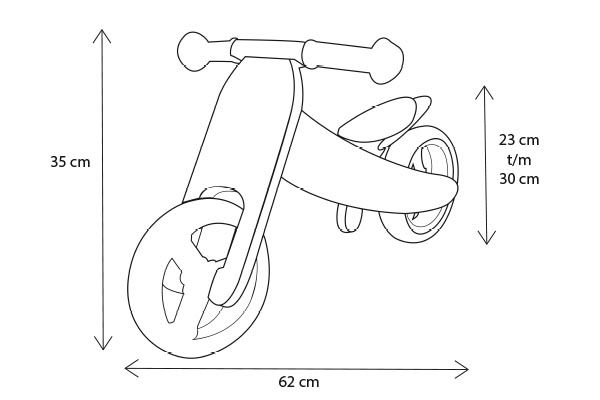 Smart bike 2-wiel stand laag frame.